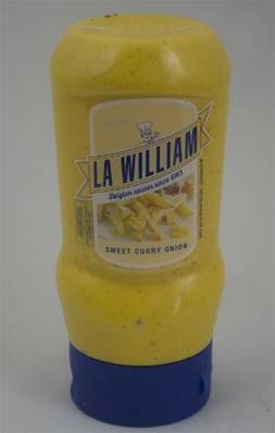 Sauce Curry Oignon Tube Plastique LA WILLIAM 300ml